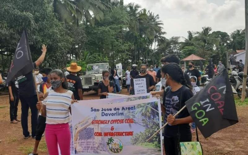 Protest Against Railway Double Tracking