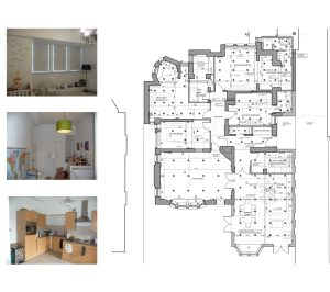 Finchley road Camden NW3 Flat extension Internal fitting layouts 1 300x266 Finchley Road, Camden NW3 | Flat extension