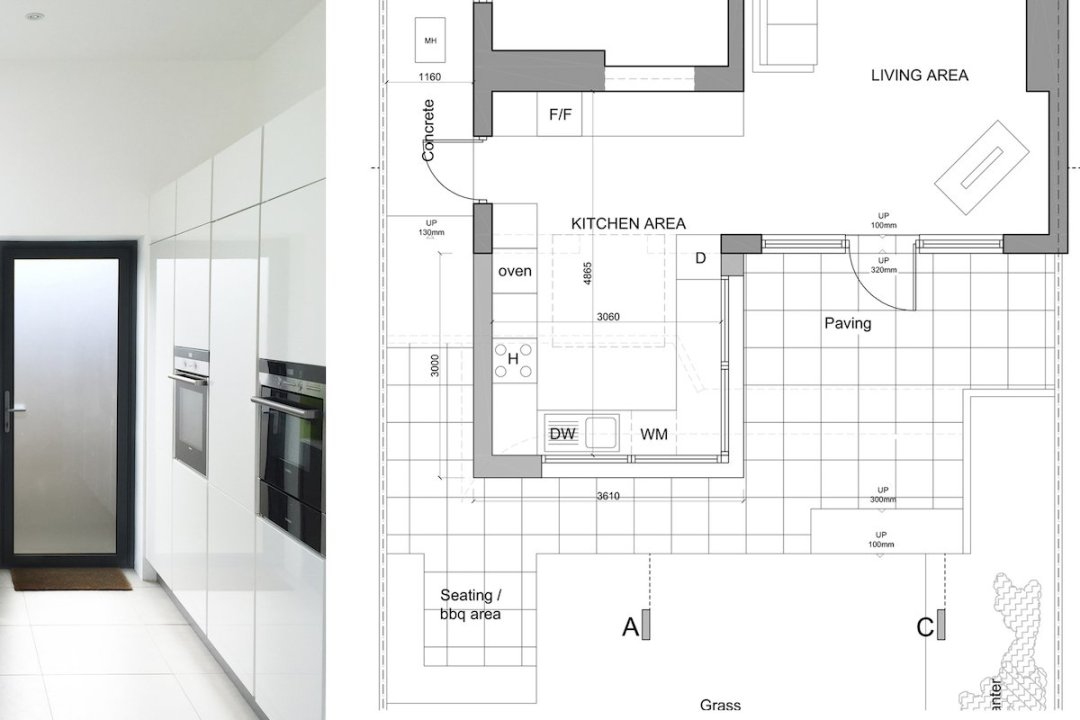 Architect designed garden flat extension Kilburn Brent NW2 Internal view 1200x800 Kilburn, Brent NW2 | Garden flat extension
