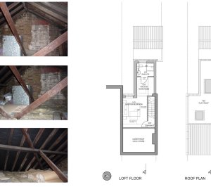 02 St Margarets Richmond TW1 House roof extension Floor plans 300x266 St Margarets I, Richmond TW1 | House extension