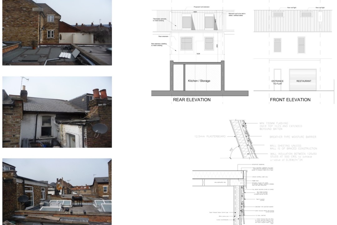 Architect designed flat extension Hammersmith Fulham W12 Design elevations 1200x800 Stamford Brook, Hammersmith and Fulham W12 | Flat extension