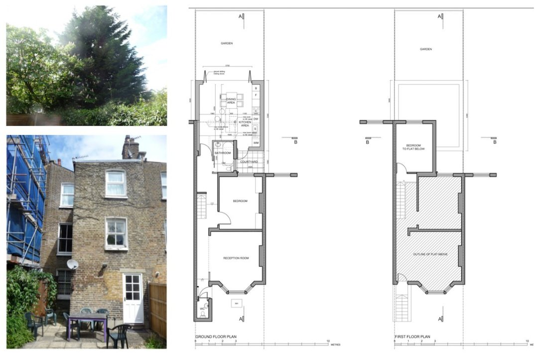 Architect designed flat extension Maida Vale Westminster W9 Floor plans 1 1200x791 Maida Vale, Westminster W9 | Flat extension