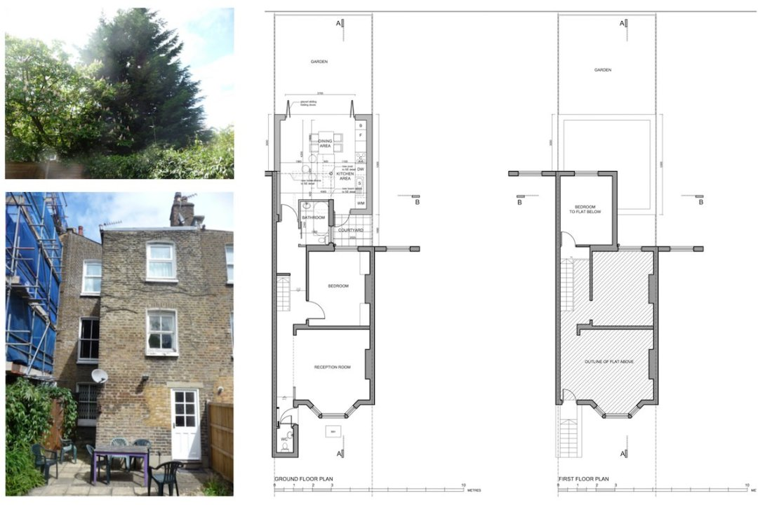 Architect designed flat extension Maida Vale Westminster W9 Floor plans 1 1200x800 Maida Vale, Westminster W9 | Flat extension