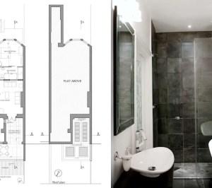 Architect designed flat extension Warwick Avenue Westminster W9 Floor plans 300x266 Warwick Avenue, Westminster W9 | Flat extension