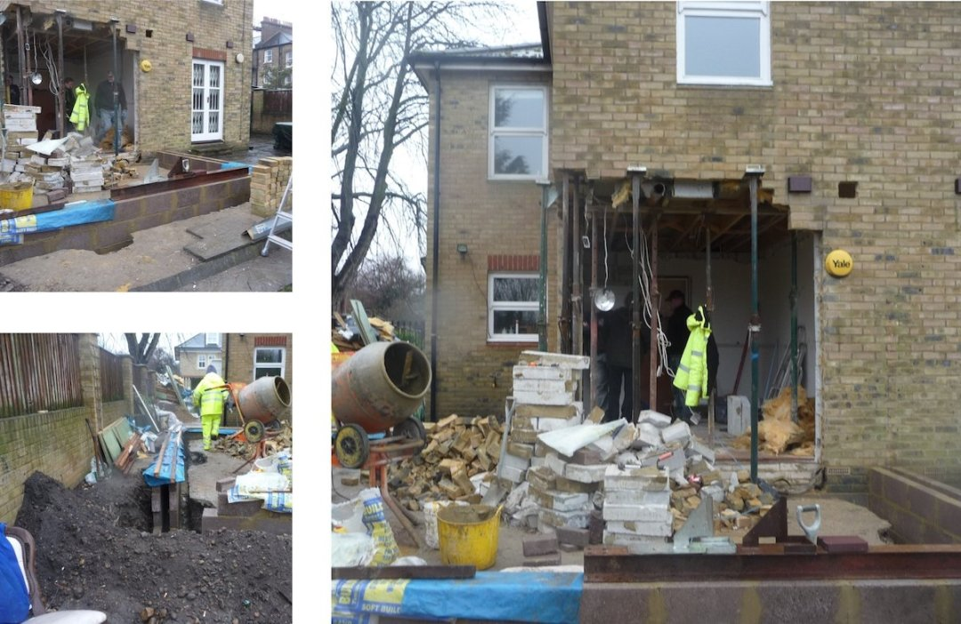 Architect designed house extension Brockley Lewisham SE4 Construction photos 1200x780 Brockley, Lewisham SE4 | House extension