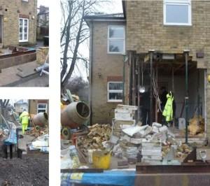 Architect designed house extension Brockley Lewisham SE4 Construction photos 300x266 Brockley, Lewisham SE4 | House extension