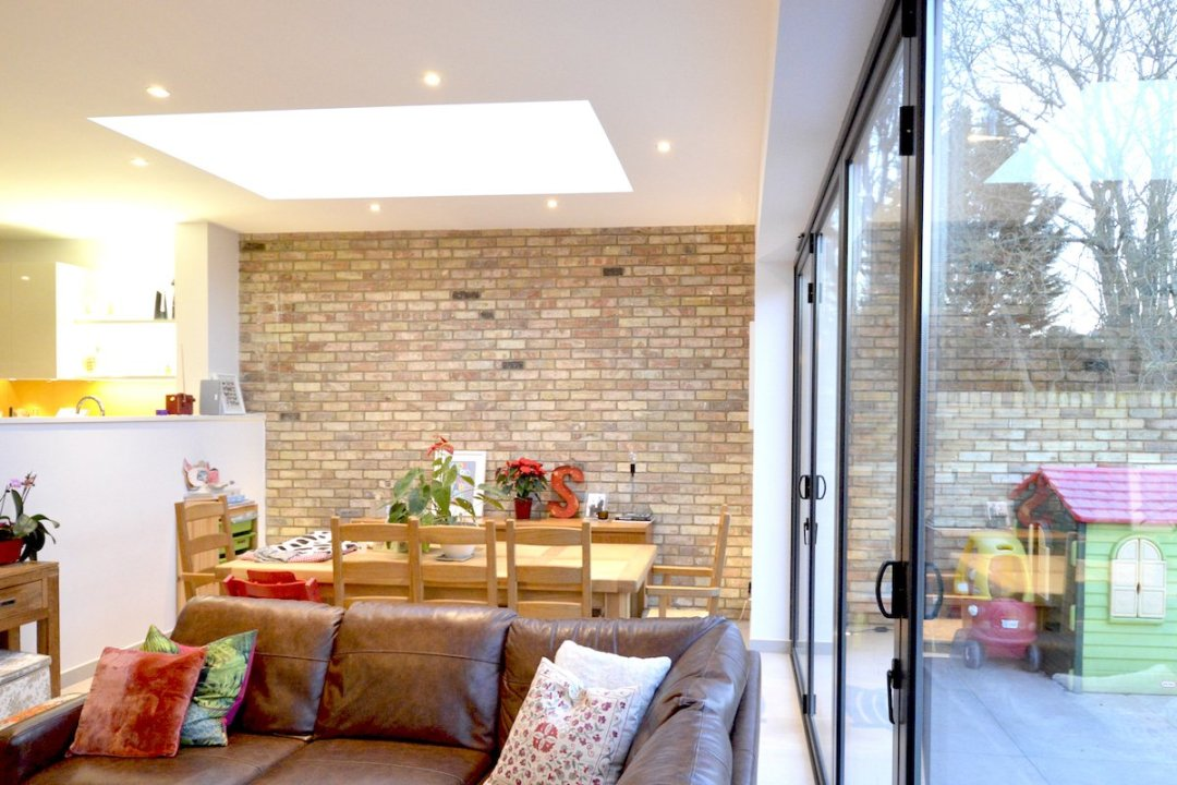 Architect designed house extension Grange Park Enfield N21 View inside out 1200x800 Grange Park, Enfield N21 – House extension and alterations