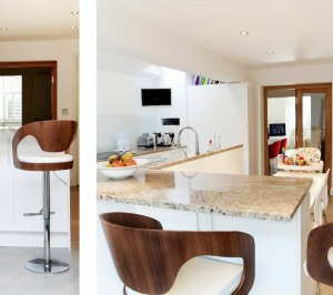 Architect designed house extension Highbury Islington N5 Side kitchen extension and spaces 300x266 Highbury, Islington N5 | House extension