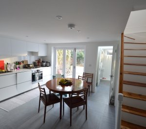 Architect designed house extension with full refurbishment Lewisham SE13 View of ground floor1 300x266 Lewisham SE13 | House extension and full refurbishment