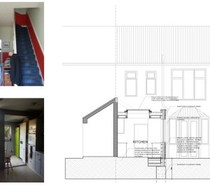 Architect designed kitchen extension Honor Oak Park Lewisham SE23 Design section 300x266 Honor Oak Park, Lewisham SE23 | Kitchen extension