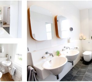 Architect designed mansard roof house extension Angel Islington N1 Family bathroom ideas 300x266 Angel, Islington N1 | Mansard roof house extension