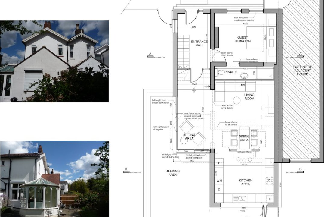 Architect designed residential extension Barnet EN5 Ground floor plan 1200x800 High Barnet EN5 | Locally Listed house extension