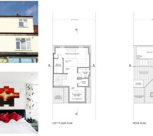 Golders Green Barnet NW11 House extension Design floor plans1 300x266 Golders Green II, Barnet NW11 | House extension