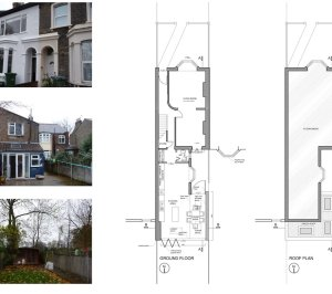 Newham E7 – House extension Floor plans 300x266 Newham, E7 | House extension