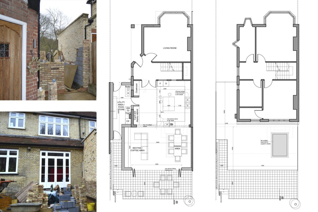 Architect designed house extension Grange Park Enfield N21 Floor Plans 1200x800 Grange Park, Enfield N21 – House extension and alterations
