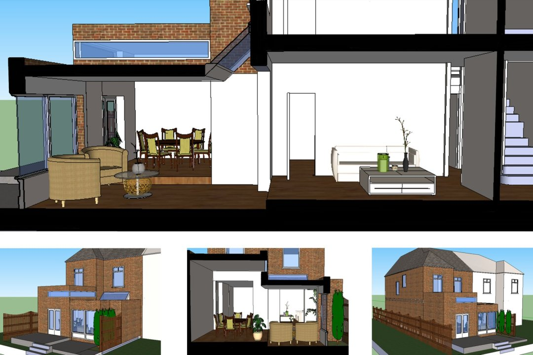 Grove Park Lewisham SE12 House Rear Extension Design 3D Images 1200x800