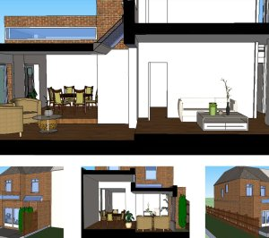 Grove Park Lewisham SE12 – House rear extension – Design 3D images 300x266 Grove Park, Lewisham SE12 | House extension