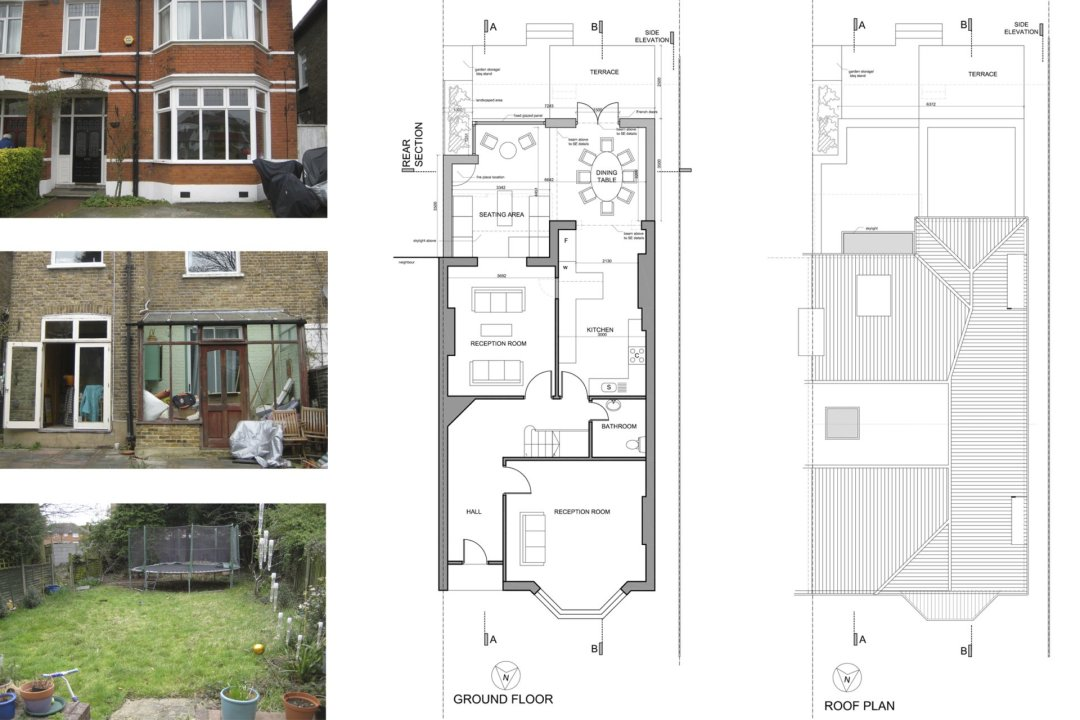 Grove Park Lewisham SE12 House Rear Extension Design Floor Plans 1200x800