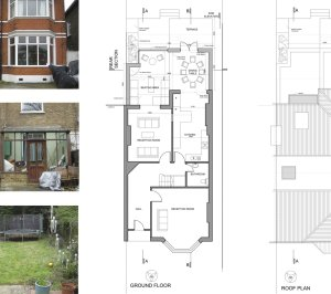 Grove Park Lewisham SE12 – House rear extension – Design floor plans 300x266 Grove Park, Lewisham SE12 | House extension