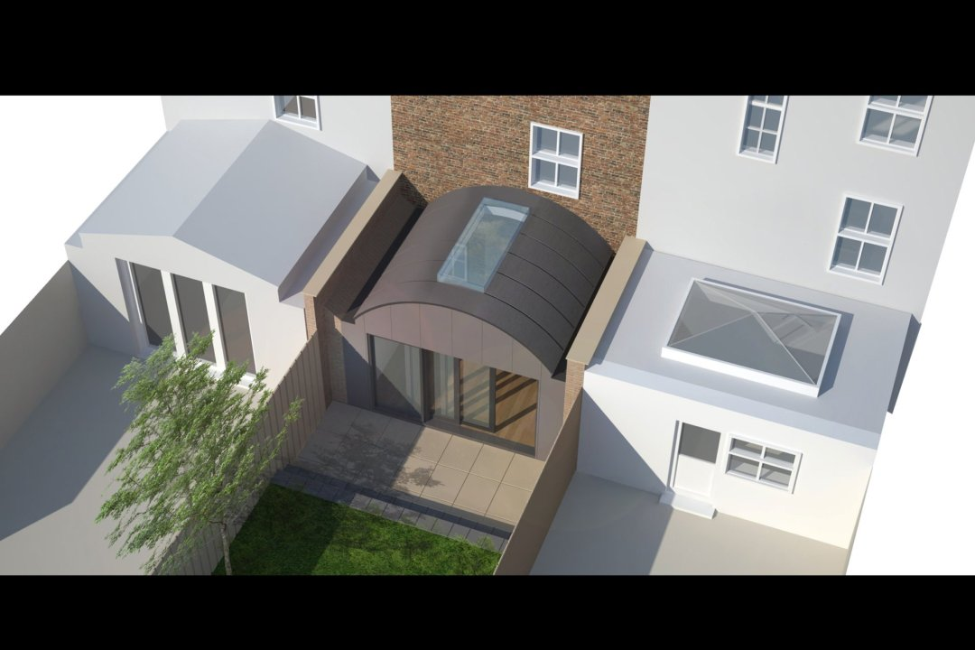 Angel Islington N1 Listed House rear extension – 3D Birds eye view 1200x800 Angel Islington N1 | Listed house rear extension