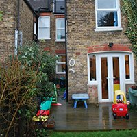 1101 Southfields Wandsworth SW18 5AW Rear elevation 200x200 Tooting Broadway, Wandsworth SW17 | Garden flat extension