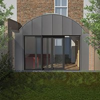 Angel Islington N1 Listed House rear extension – Rear elevation 200x200 Islington residential architect projects
