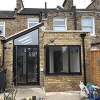 Architect designed rear house extension Finchley Central Barnet N3 Construction stage 200x200 High Barnet EN5 | Locally Listed house extension