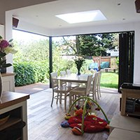 East Finchley Barnet N2 House extension Kitchen view out 200x200 High Barnet EN5 | Locally Listed house extension