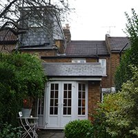 St Margarets I Richmond TW1 House roof extension Rear roof elevation 200x200 Richmond residential architect projects