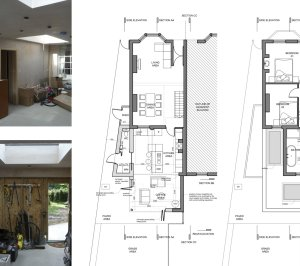 Enfield Chase EN2 Rear house extension refurbishment Floor plans 300x266 Enfield Chase EN2 | Rear house extension and refurbishment