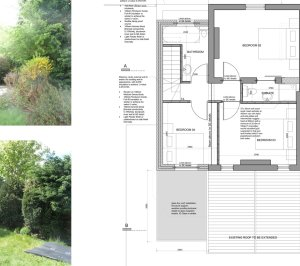 High Barnet EN5 Residential extension locally Listed house First floor plan 300x266 High Barnet EN5 | Locally Listed house extension