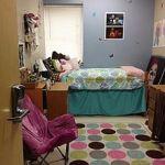 A university dorm room