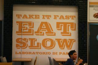 Slogan eines Pastarestaurants