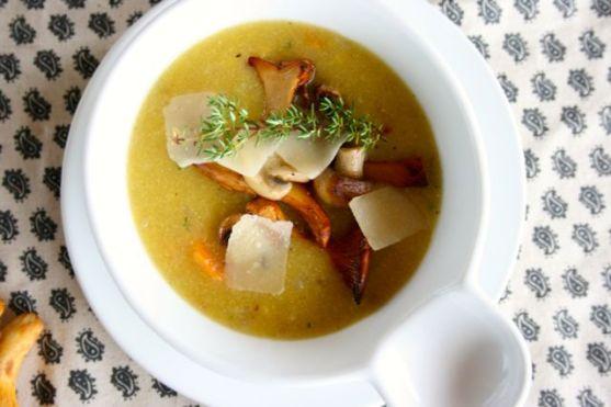 Polenta Pilz Suppe