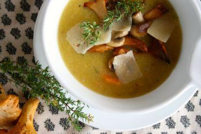 Polenta-Pilz-Suppe