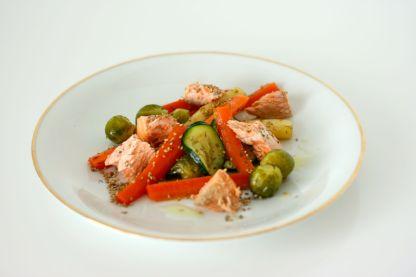 Gemüsesalat mit Lachs3
