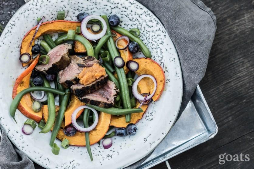 Kuerbis-Bohnen-Salat mit Rinderfilet (4 von 9)