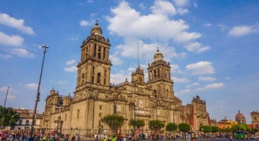 mexico city is one of the best places to visit in mexico. see the zocalo and cathedral
