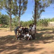 Justin teaching a class in Kenya