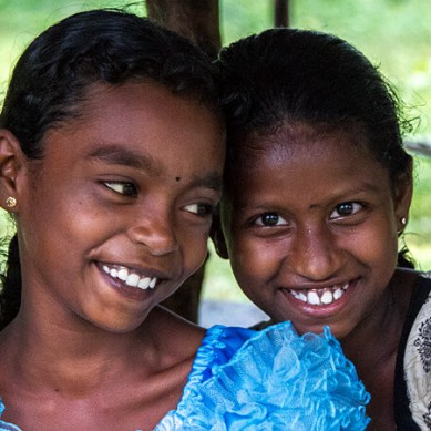 Young Sri Lankan children smiling