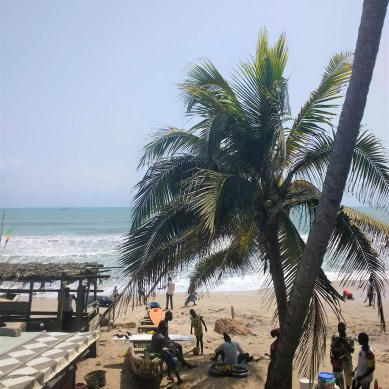 Ghana beach scene