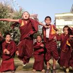 They may be quiet and committed when it's time to focus, but when free time arrives...these young monks are full of energy!