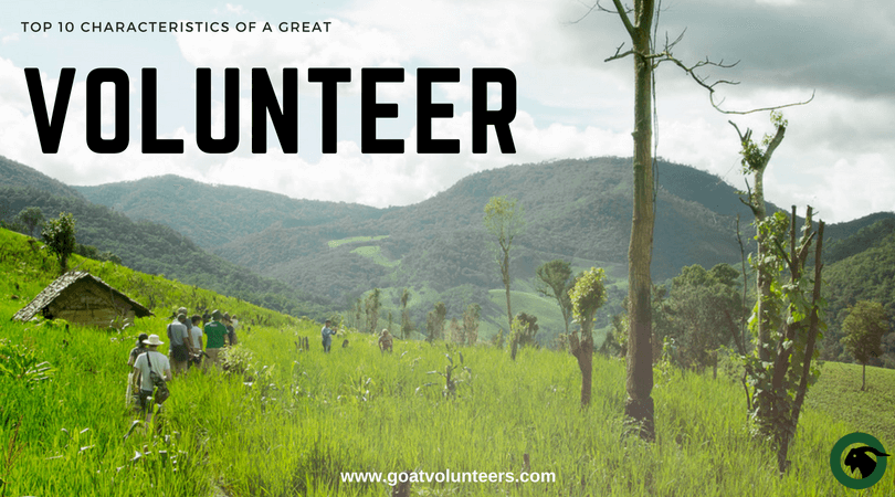 Anyone can volunteer, but being a great volunteer requires much more than the willingness to hop on a plane and work on a project. These top ten characteristics define the difference between regular and exceptional volunteers.