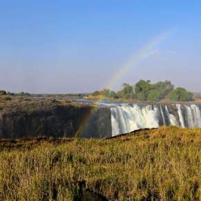 Victoria Falls seen from the Zimbabwe side
