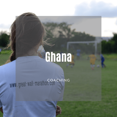 Volunteer coaching soccer in Ghana
