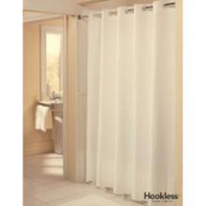 pique weave hookless shower curtain