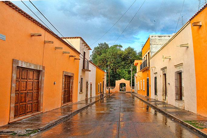Calle en Real de Asientos, Aguascalientes