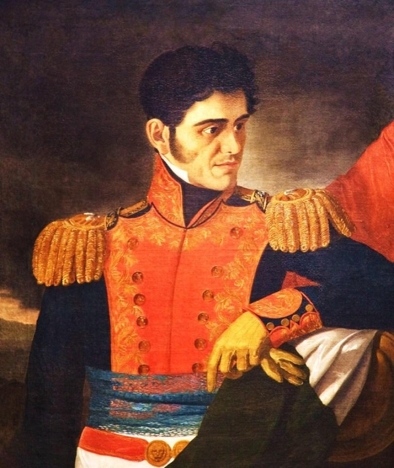 Se encuentra sentado Antonio López de Santa Anna