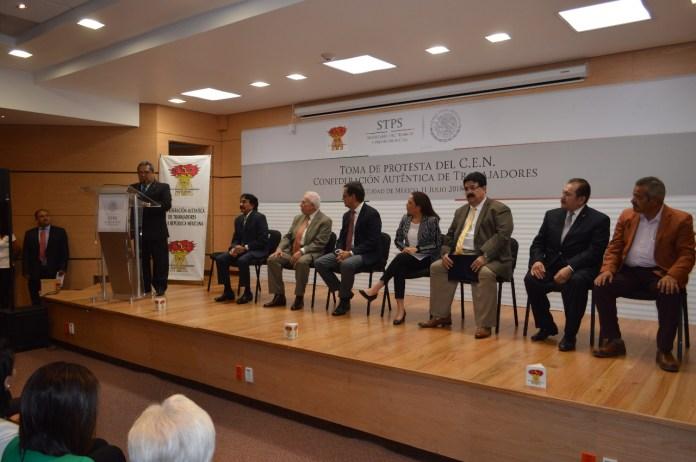 Ricardo Espinoza López en su intervención al tomar la dirigencia del cat