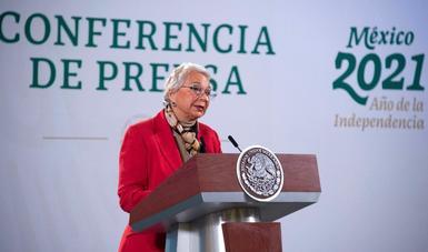 Gobierno de México agradece muestras de apoyo al presidente, expresa secretaria de Gobernación